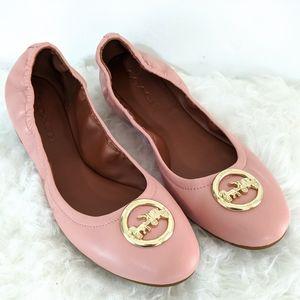Coach Bailey Pink Ballet Flats 11M